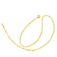 周大福 光砂黄金项链 F172898 4.8g 45cm