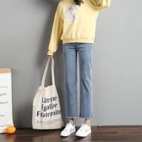 FANGKUAISHI 方块石 727 女士直筒牛仔裤