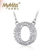 MyMiss 925银镀铂金O形项链女 情侣送礼物 欧美时尚百搭项链