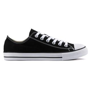 凡客诚品 帆布鞋男休闲鞋系带简约低帮系带纯色 黑色 41 *3件
