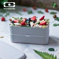 法国monbento饭盒分隔型男女式日式便当盒餐盒 双层便当盒