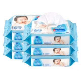 强生(Johnson) 婴儿手口湿巾(开心食刻)80片x6包 *5件