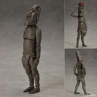 FREEing figma 桌上美术馆-分馆  摩艾石像 可动模型