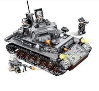 SEMBO BLOCK 森宝积木 兼容军事拼装模型  钢铁帝国-德国坦克 596颗粒