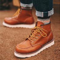 Red Wing 红翼875 美产手工制工装靴男士皮革户外复古固特异短靴美式复古经典高帮系带工装靴875