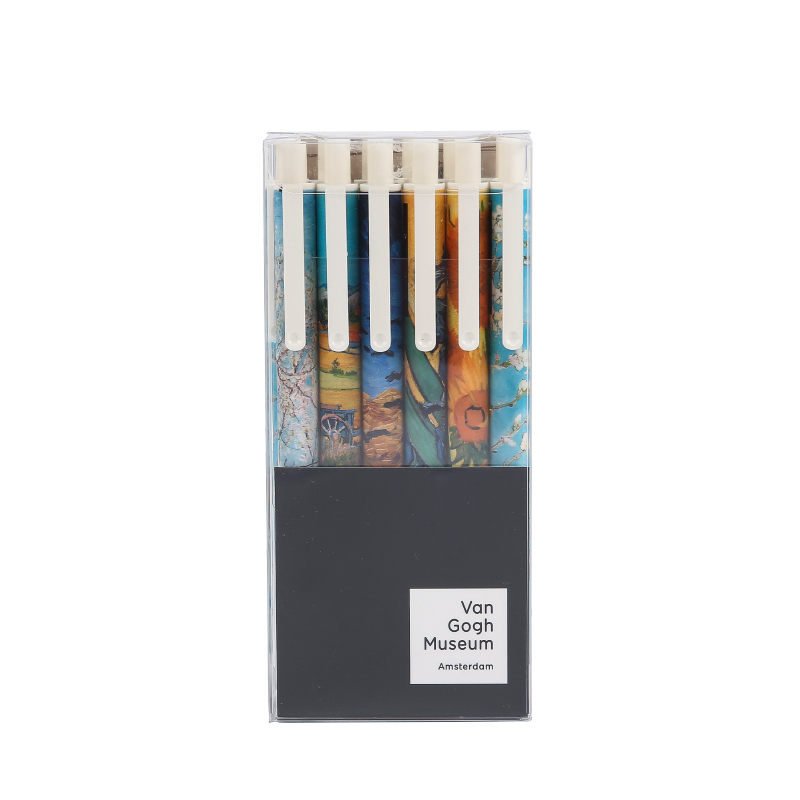 M&G 晨光 梵高系列 AGP87926 按动中性笔  AGP87926A  0.5mm 黑色 12支