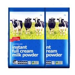 coles 全脂高钙奶粉 1000g*2袋 *3件