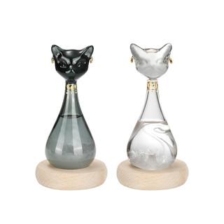 大英博物馆 6971940534327 盖亚·安德森猫风暴瓶天气预报瓶装饰品 黑色