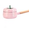树可 1 珐琅 番茄锅家用搪瓷锅单柄汤锅小日式奶锅燃气电磁炉通用 粉色