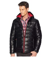 Cole Haan Faux Leather Faux Down Jacket 男士夹克