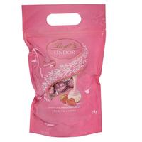 Lindt 瑞士莲 Lindor系列软心巧克力球 草莓味 80粒装 1kg *2件