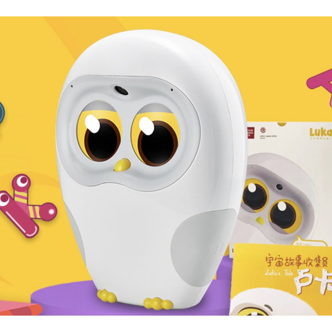 宝藏新品牌:ling 物灵 绘本阅读机器人 猫头鹰点读笔