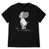 PEACEBIRD 太平鸟 x 猫和老鼠系列 男士纯棉T恤BWDA93170 黑色 M