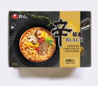 NONGSHIM 农心 BLACK 黑牌辛拉面 101g*6盒