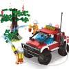 开益   积木拼装 消防多功能越野车+2个公仔积木模型  212颗
