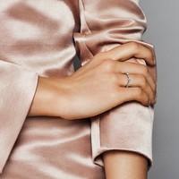 PANDORA 潘多拉 198018 女士心意交织925银戒指