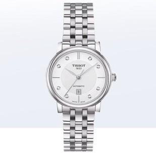 TISSOT 天梭 卡森臻我系列  T122.207.11.036.00 女士镶钻机械腕表