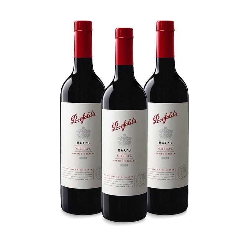 Penfolds 奔富 麦克斯 西拉子干红葡萄酒 750ml*3瓶