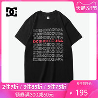 DCSHOECOUSA 19 CONTINUING 短袖T恤男字母印花半袖 5126J939-BLK *5件