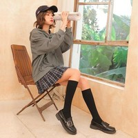 卡奈纯 女士长筒袜 小腿袜 多色可选 2双装