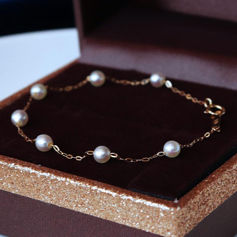 PearlYuumi 優美 akoya海水珍珠手链 4-4.5mm