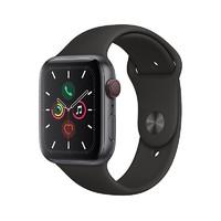 Apple 苹果 Watch Series 5 智能手表( GPS+蜂窝、深空灰色铝金属表壳、黑色运动型表带、44毫米)
