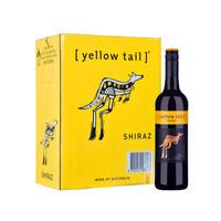澳大利亚进口红酒 黄尾袋鼠(Yellow Tail)西拉红葡萄酒 750ml*6瓶