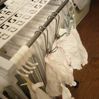 不锈钢304晒袜子挂毛巾带钩小夹子悬挂式钢丝夹衣架挂钩日本内衣