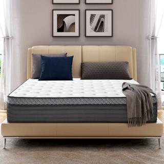 芝华仕 床垫 双人床乳胶床垫独立弹簧席梦思床垫1.5m床 D022 1.5*2米15天内发货