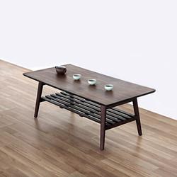 Funature 慧乐家 33143-1 小户型现代简约飘窗桌炕几 胡桃木色