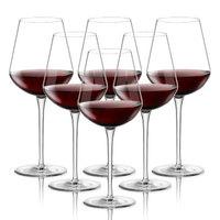 BORMIOLI ROCCO波米欧利意大利进口uno水晶玻璃红酒杯高脚杯套装 640ml六只 *3件