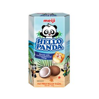 meiji 明治 熊猫夹心饼干 椰子味 50g *17件