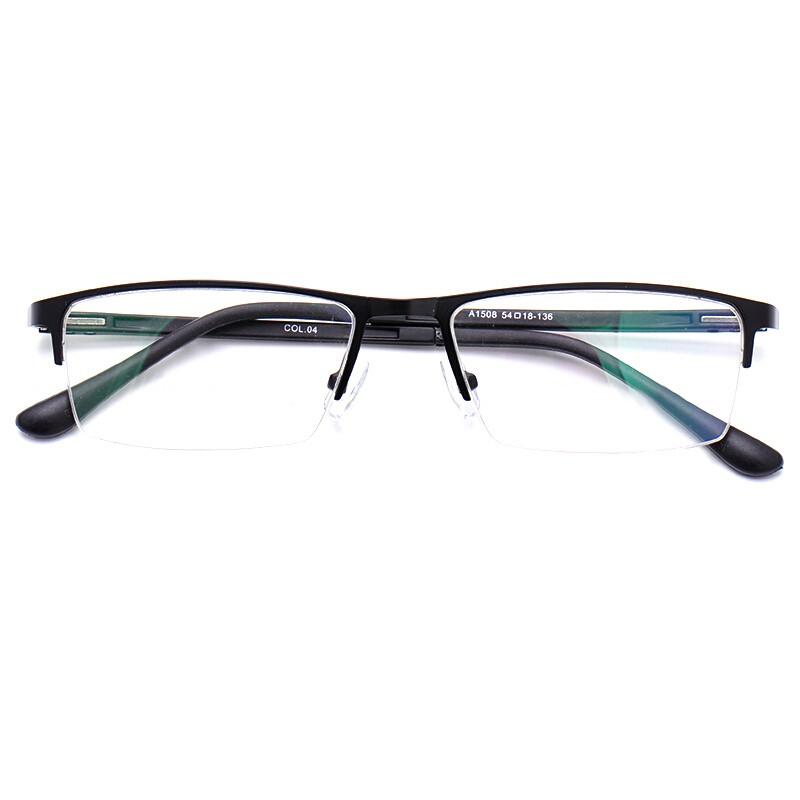 目匠 套镜 (光学眼镜框架A1508+1.61防蓝光镜片 ) 经典黑