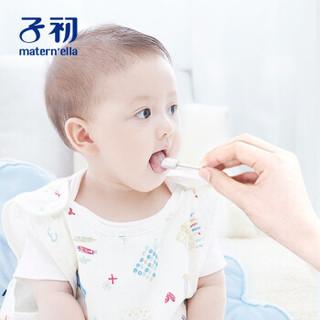 Springbuds 子初 6941499810371 婴儿宝宝牙刷 一次性口腔清洁纱布 幼儿宝宝洗舌苔棉刷 30支