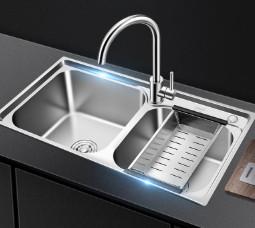 VATTI 华帝 VATTI H-A2012(77)-C.1 304不锈钢双槽+冷热龙头套装
