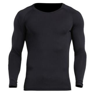 vansydical 范斯蒂克 运动套装男跑步长袖健身服速干透气紧身衣篮球服健身房训练运动服 五件套(黑帽衫) TC0620 L