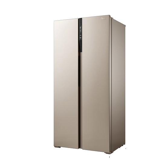 美的(Midea)对开门450L风冷智能超薄家用双开门电冰箱BCD-450WKZM(E)
