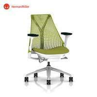 Herman Miller 赫曼米勒 Sayl 座椅 个性款 电脑椅 办公椅 灰色底座\绿色靠背\绿色扶手\绿色坐面