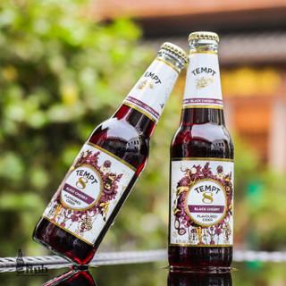 丹麦原装进口诱惑3号7号8号9号西打酒接骨木味车厘子苹果水果味啤酒330ml*12瓶混合装