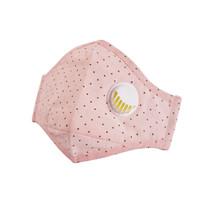 限地区 : 北诺潮防雾霾防尘PM2.5呼吸阀口罩女士非一次性防晒口罩 粉点点(含10片滤片)
