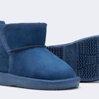 Balabala 巴拉巴拉 儿童加绒靴子 8800 深蓝色 25