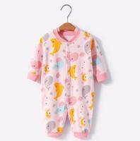 舒贝怡 婴儿连体纯棉睡衣