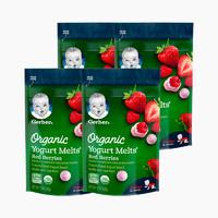 Gerber 嘉宝 婴幼儿草莓红莓酸奶溶豆 3段 28g*4(8个月以上)