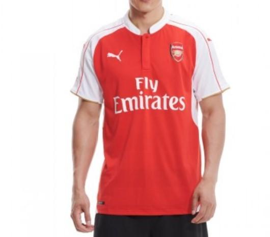 彪马 PUMA Arsenal 阿森纳 15-16赛季主场 男士短袖T恤