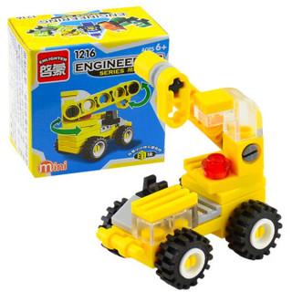 启蒙积木兼容乐高拼装积木玩具城市系列小工程车早学初教认知5+儿童男孩女孩儿童幼儿园积木玩具礼物 吊车(31PCS)