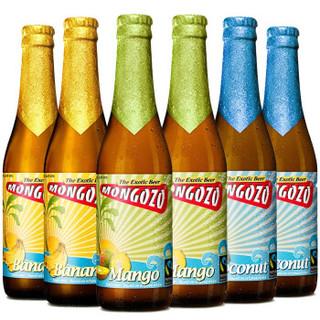 比利时原装进口梦果酌椰子/香蕉/芒果味梦果水果啤酒Mongozo 6瓶