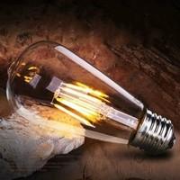 比格照明 ST64 复古怀旧灯泡 暖白4W