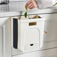 厨房垃圾桶橱柜门挂式折叠蔬菜果皮分类垃圾纸篓卫生间壁挂垃圾筒