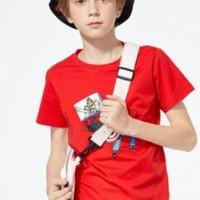 Balabala 巴拉巴拉 男童短袖T恤 6530 橙红色 140