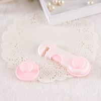 贝得力(BEIDELI) 婴儿防夹手对开锁 宝宝安全锁吸卡对开锁--粉色 2个装 *3件